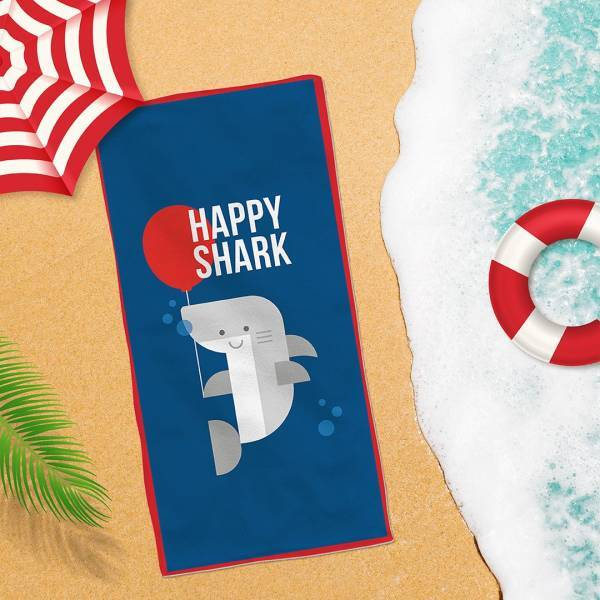 - Happy Shark Plaj Havlusu