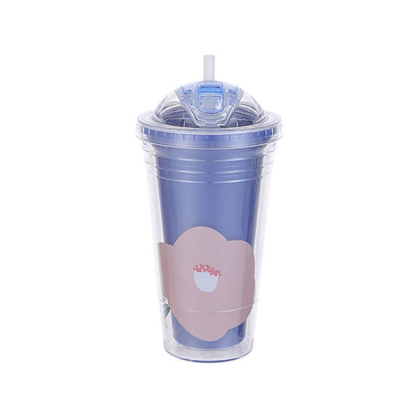 MINISO - Modern Collection Çift Katmanlı Su Kabı 480ml(Mavi)