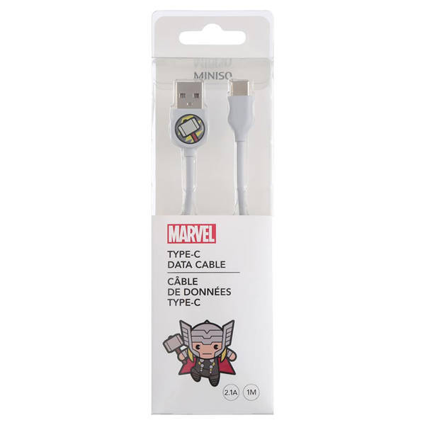 MINISO - MARVEL Type-C Şarj ve Data Kablosu Thor
