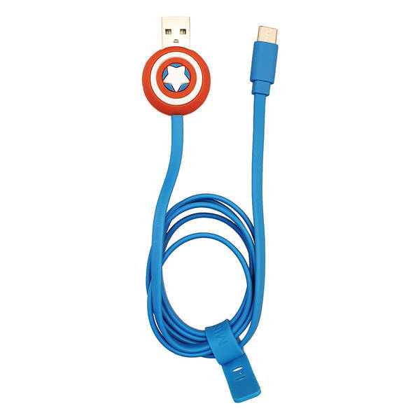MINISO - MARVEL Type-C Şarj ve Data Kablosu(Captain America)