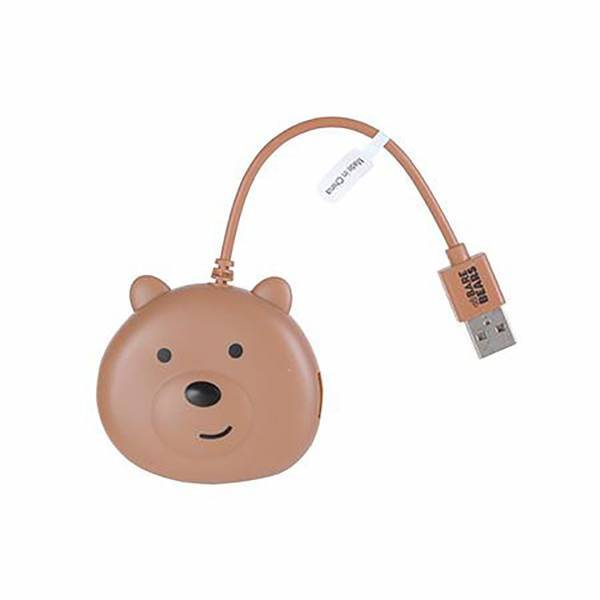 - We Bare Bears-Grizzly 4-Portlu USB Hub