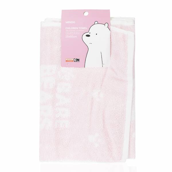 MINISO - We Bare Bears Havlu_Ice Bear (Pembe)