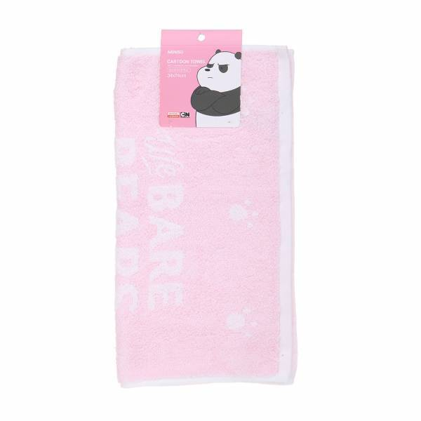 MINISO - We Bare Bears Havlu_Panda (Pembe)