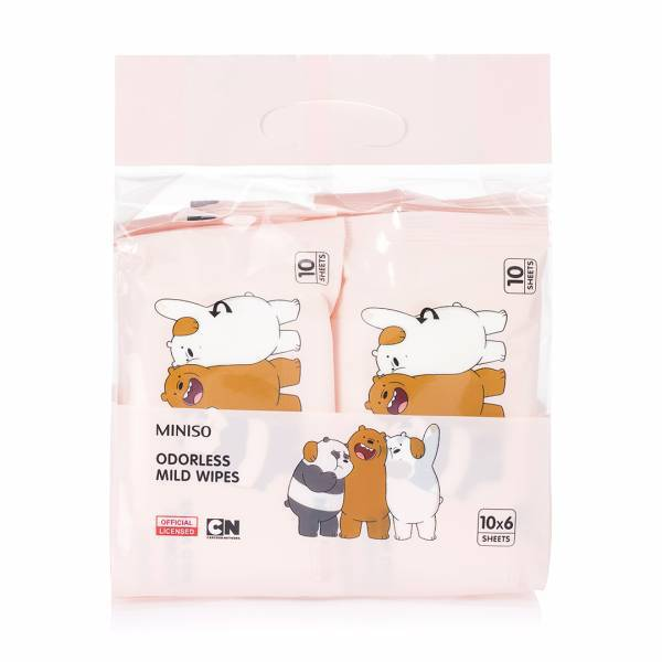 - We Bare Bears Kokusuz Islak Mendil (10 x 6 adet)