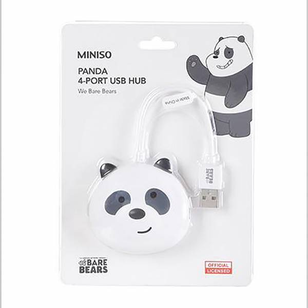 We Bare Bears-Panda 4-Portlu USB Hub - Thumbnail