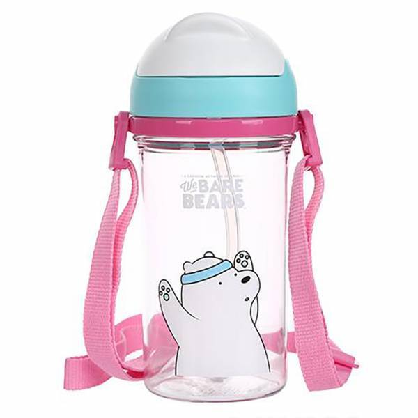 - We Bare Bears Pipetli Tritan Su Şişesi_Ice Bear_400 ml