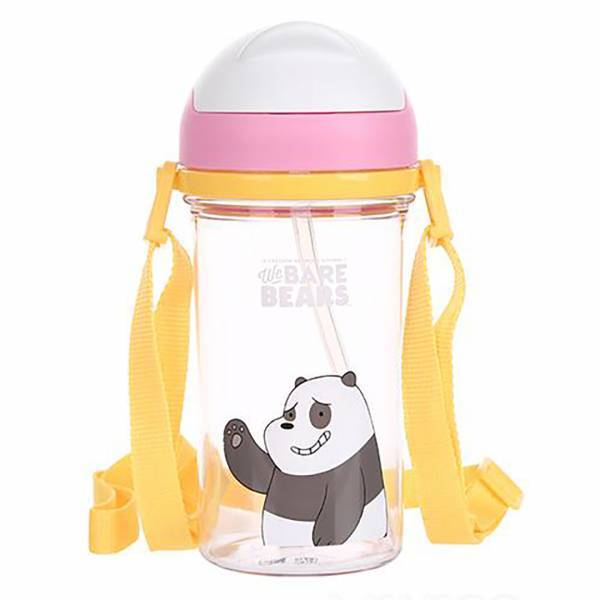 - We Bare Bears Pipetli Tritan Su Şişesi_Panda_400 ml