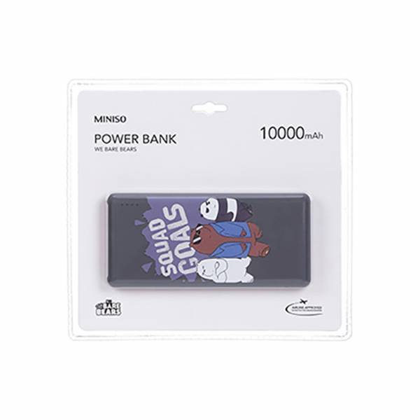 MINISO - We Bare Bears- Squad Goals Powebank (10000 mAh)